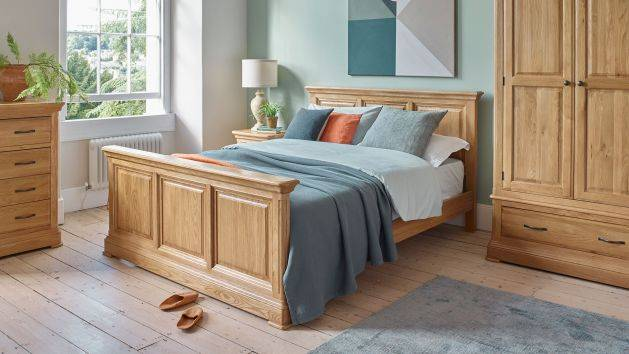Oak Double Beds | Solid Wood Double Beds | Oak Furnitureland