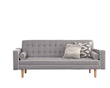 Amazon.com: Scott Living Luske Fabric Sofa Bed with Accent Pillows