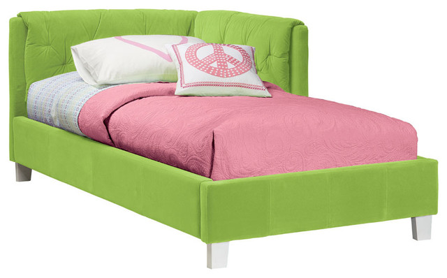 Standard Furniture My Room Upholstered Corner Daybed in Green Velvet