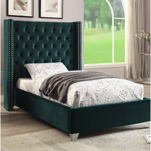Green Velvet Beds You'll Love | Wayfair