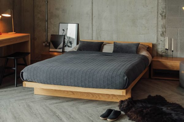 Kyoto Japanese Bed with Headboard | Natural Bed Company