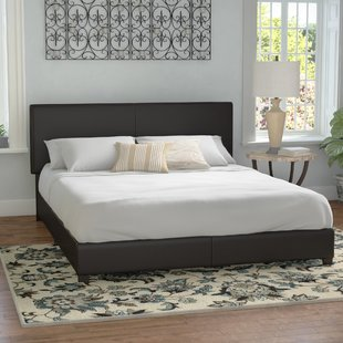 Faux leather Beds You'll Love | Wayfair