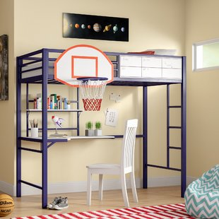 Loft Bed With Shelves | Wayfair