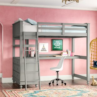 Bunk Bed With Desk And Drawers | Wayfair