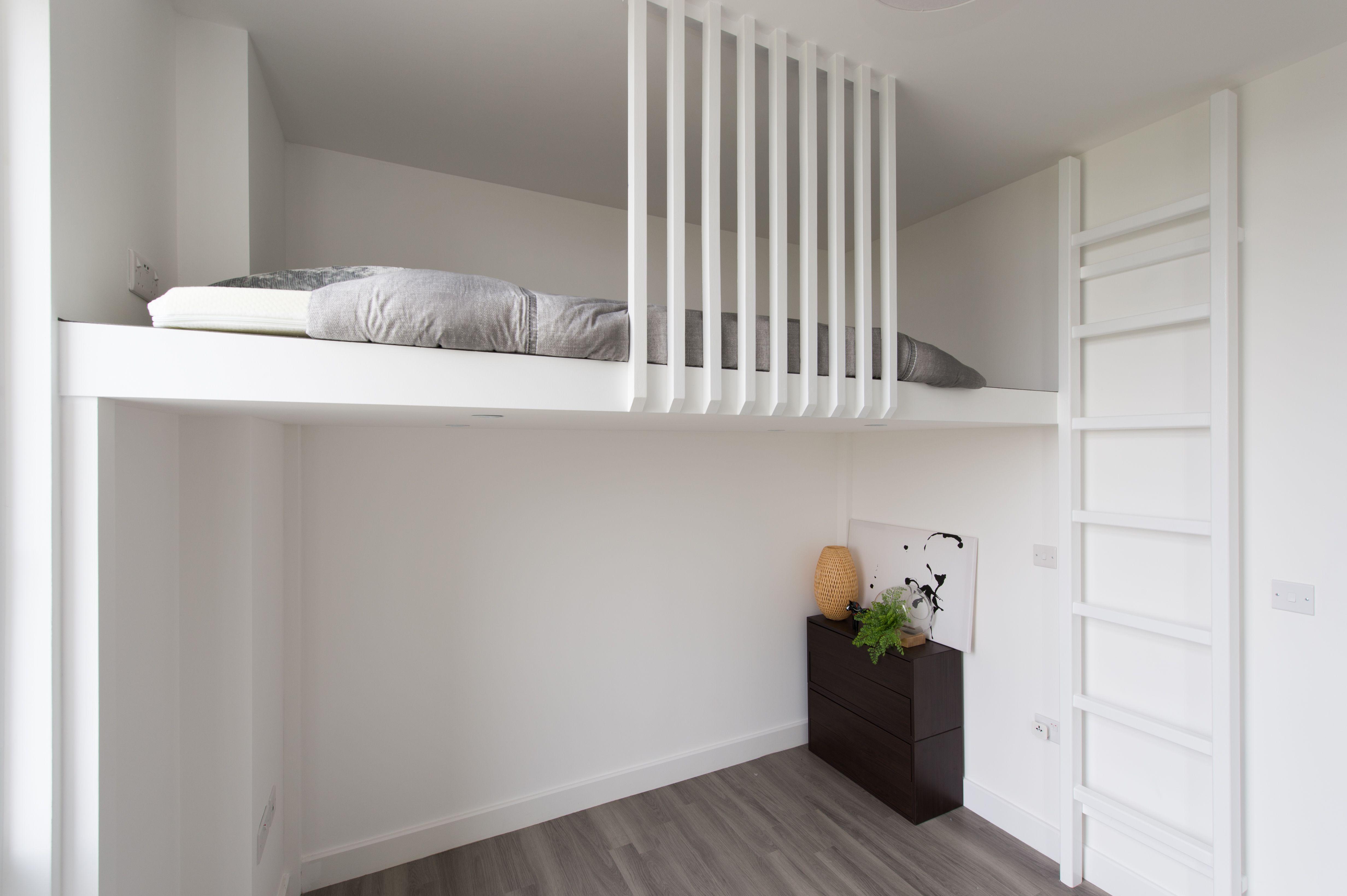 Scandinavian Loft, Bespoke design, Compact living, Mezzanine Loft, oak  wood, Loft Bed, bespoke loft beds, Storage, Home improvement, Creating Space,