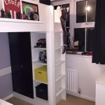 Loft beds with storage box and storage space