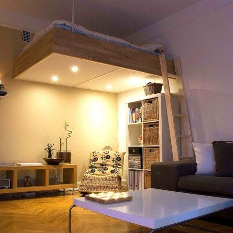 adult loft bed bespoke wood lights best design 2016 | apartment