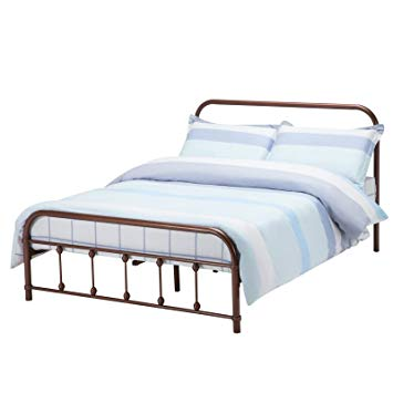 Amazon.com: Mecor Bronze Metal Beds Frame Queen Size Platform, with