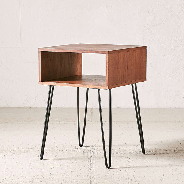Wood And Metal Bedside Table Thefunkypixel Com Throughout Decor 7