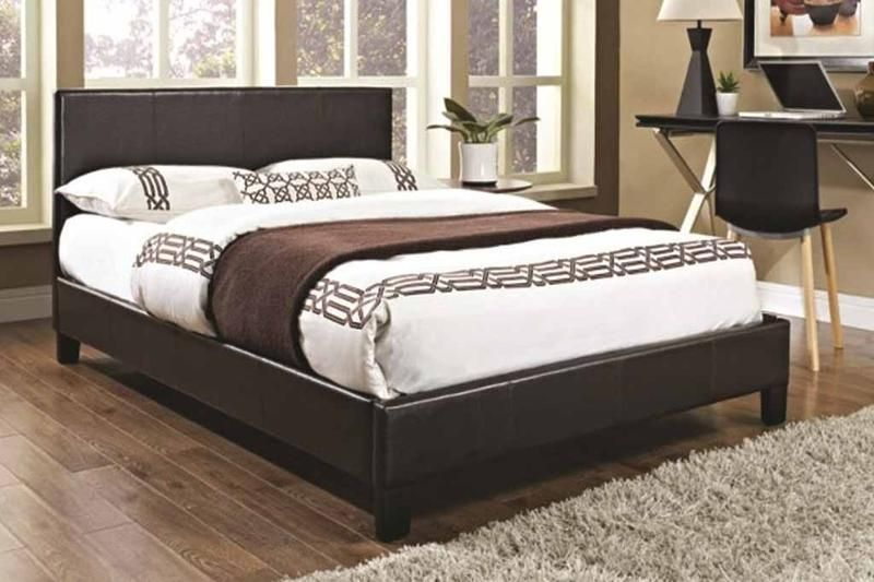 Goodpillo Modern Faux Leather Bed Frame Cheap With Memory Foam Mattress  Deal #CheapMemoryFoam