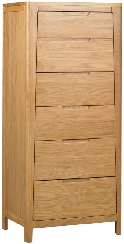 Mark Webster Geo Oak Chest Of Drawer - 6 Drawer Tall | Bedroom