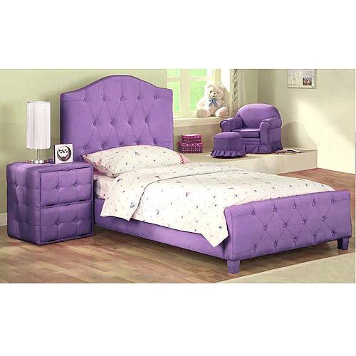 New Diva Upholstered Twin Bed, Purple u2013 $150 | New Diva Upholstered