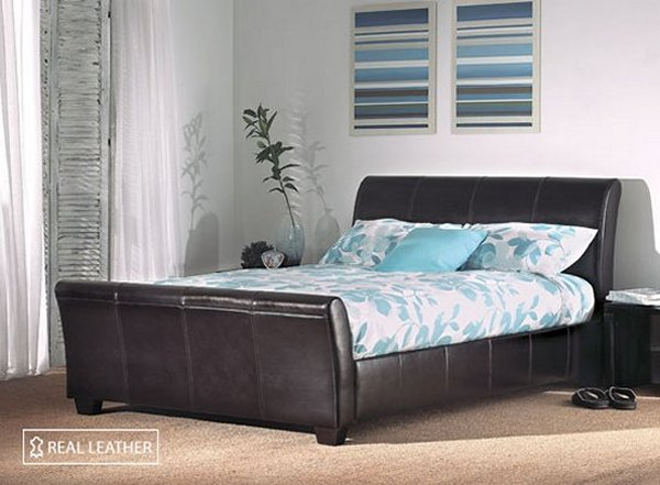 Limelight Leather Beds