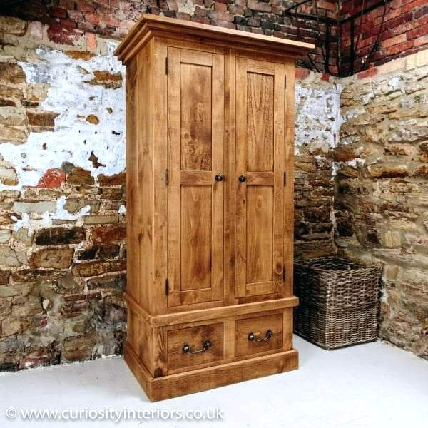 Rustic Wardrobe Closet French Country Colonial Large Bathrooms With