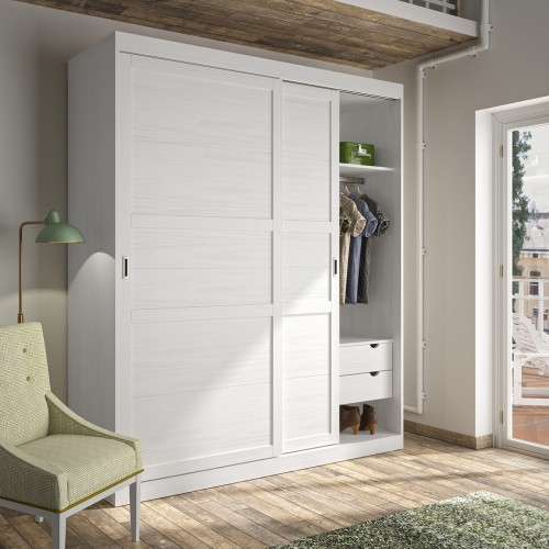 Pine and rustic wardrobes - Mobles Allés