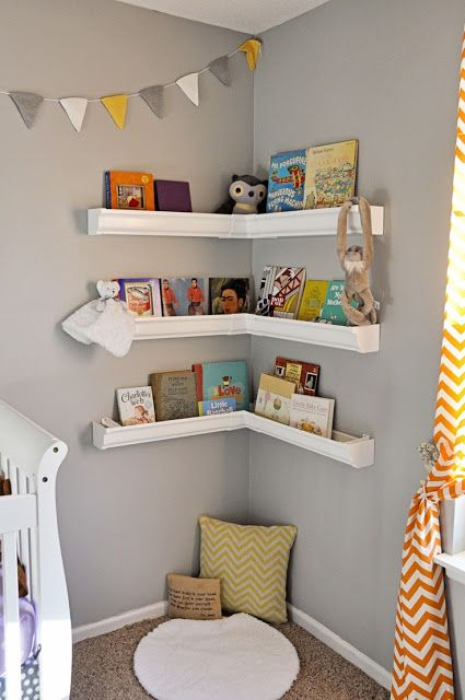 Cute idea for books. Especially because a toddler cant reach to make