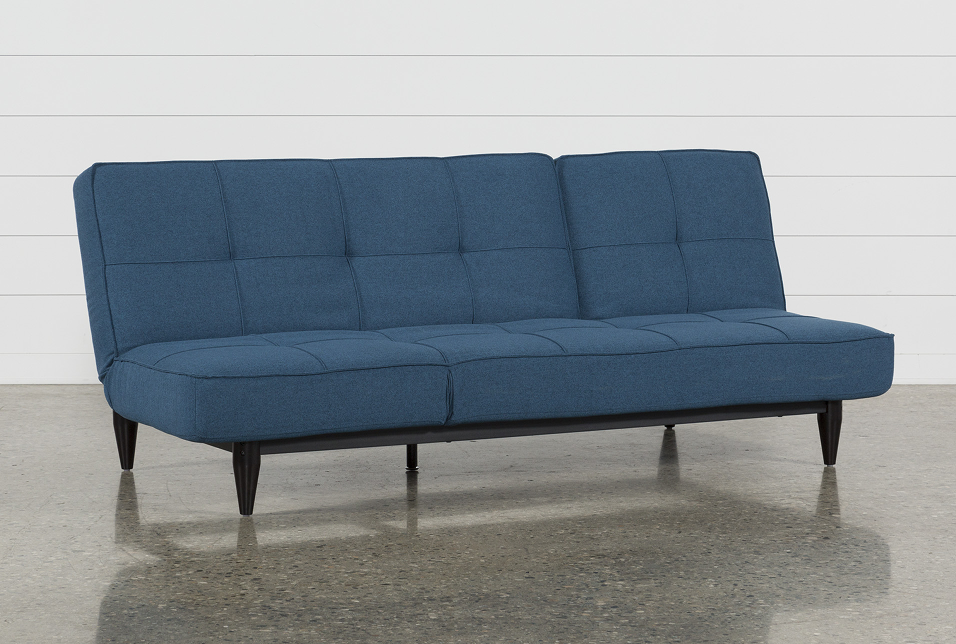 Paige Blue Convertible Sofa Chaise Sleeper | Living Spaces