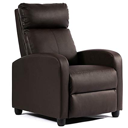 Amazon.com: BestMassage Wingback Recliner Chair Leather Single