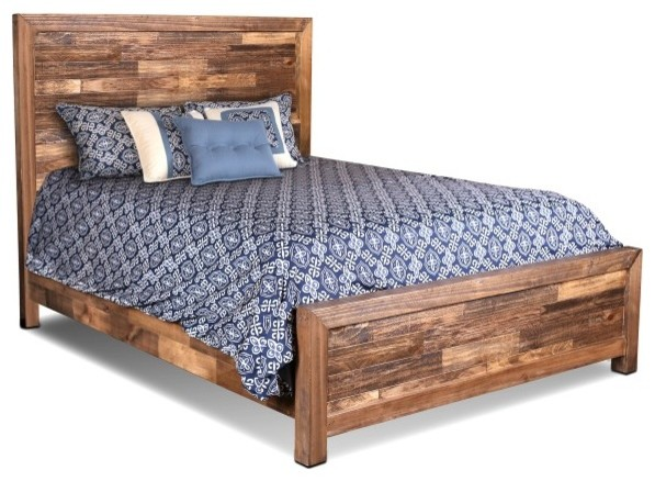 Fulton Solid Wood Queen Size Bed Frame - Farmhouse - Panel Beds - by