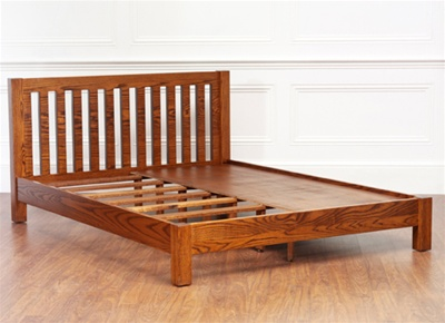 Sea Green Solid Wood Bed