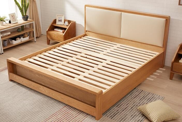 Pine Queen Size Solid Wood Bed Frame With Drawers Chunky Wooden Beds