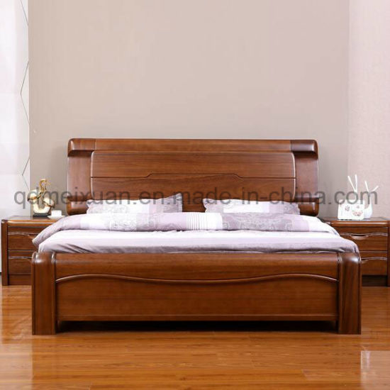 China Solid Wooden Bed Modern Double Beds (M-X2349) - China Wood
