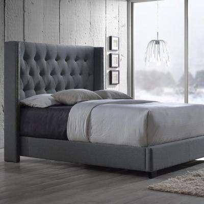 Full - Gray - Upholstered Headboard - Beds & Headboards - Bedroom