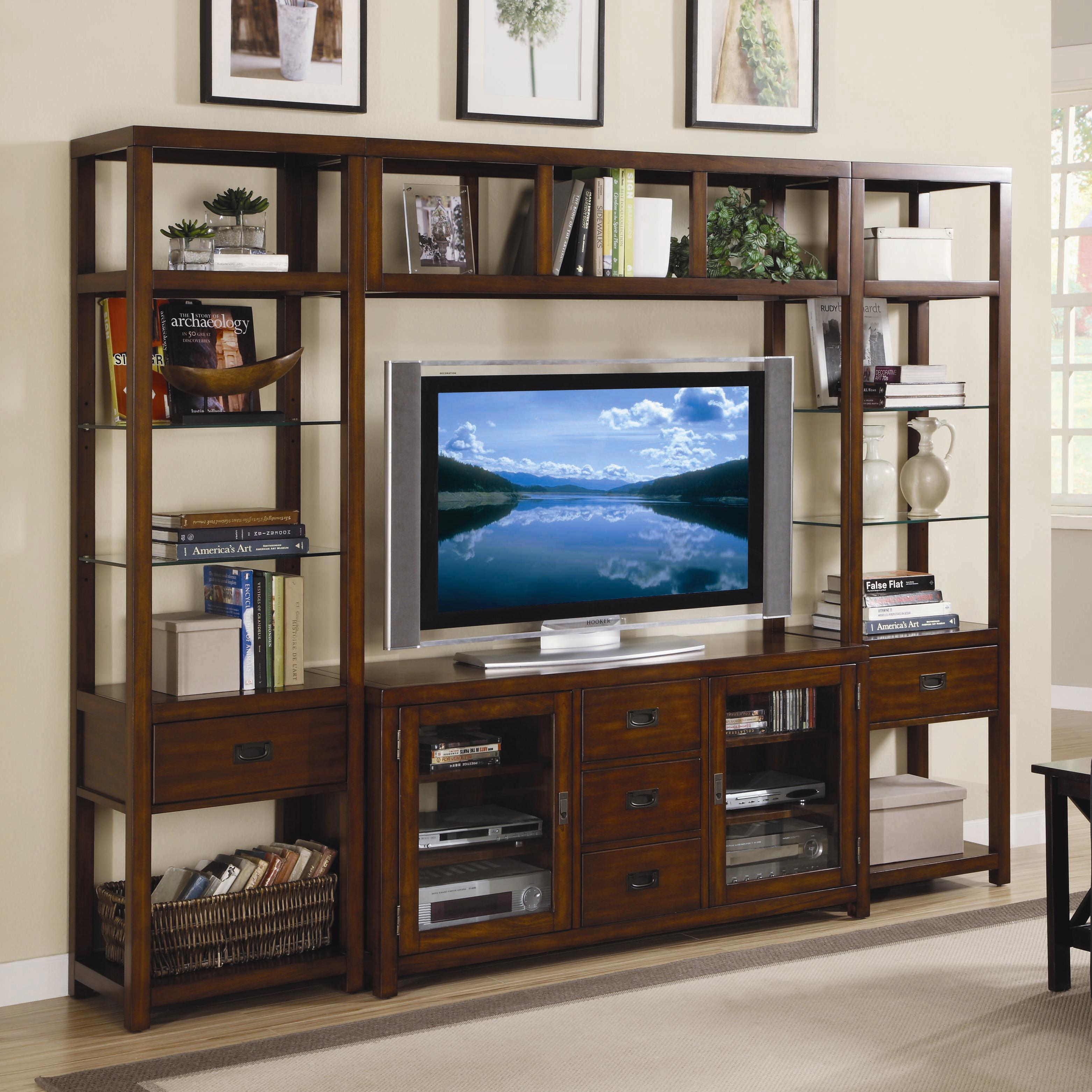 Open Entertainment Wall Unit by Hooker Furniture | Wolf and Gardiner Wolf  Furniture
