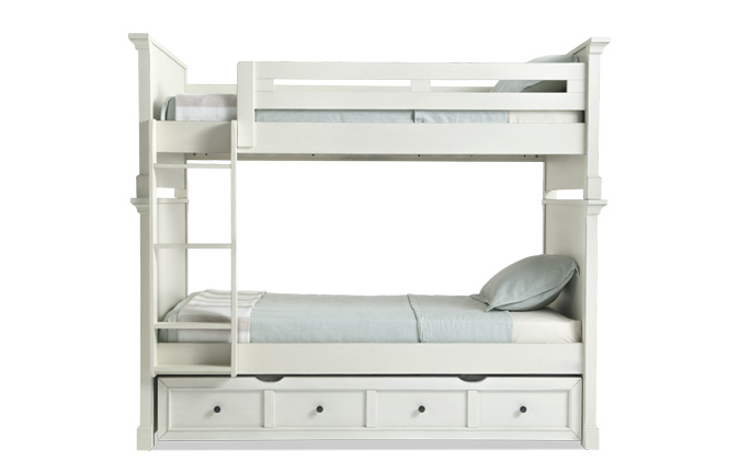 Julia Youth Bunk Bed With Trundle | Bob's Discount Furniture