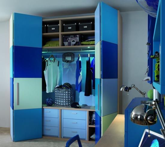 Great Blue Childrens Bedroom Wardrobe Collection from Dearkids