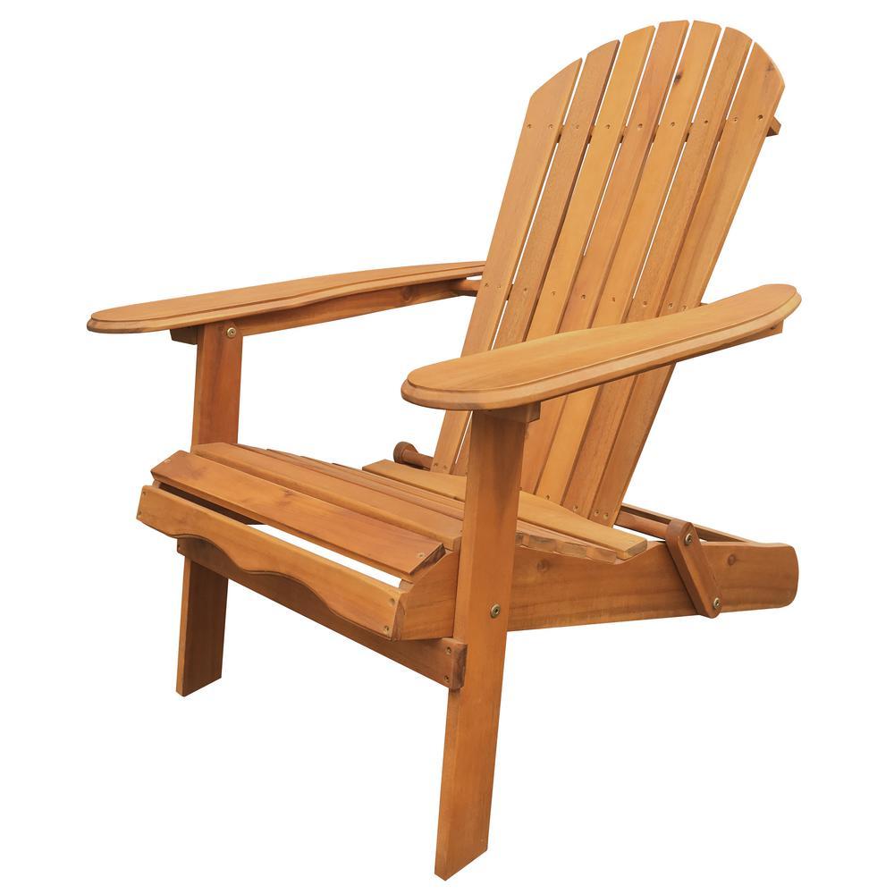 Natural Folding Adirondack Chair