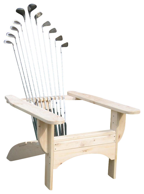 Golfclub Adirondack Chair in Blond Finish - Contemporary - Adirondack Chairs  - by ShopLadder