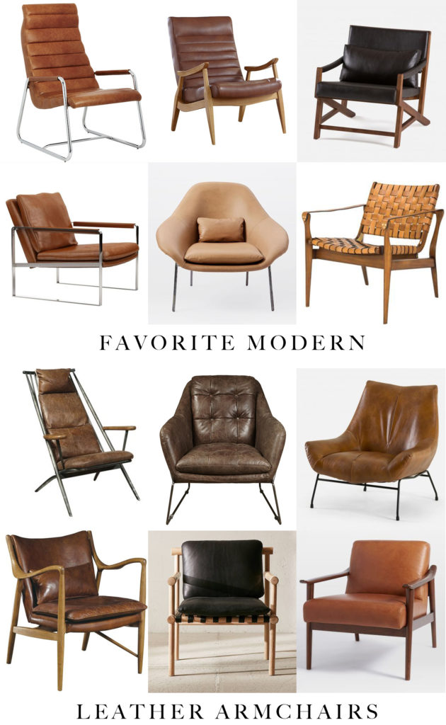 Affordable Modern Leather Armchairs