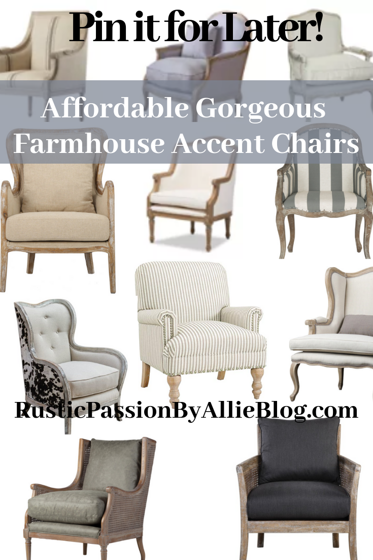 This is the Best List of Affordable Farmhouse Armchairs and Accent Chairs  that make a Statement!