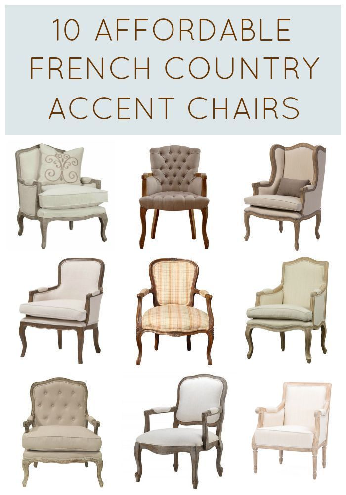 10 Affordable French Country Chairs | Inexpensive French style armchairs  with upholstery | French furniture | Louis XVI French chairs |  Traveller Location
