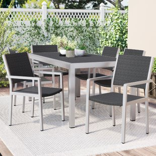 Durbin 7 Piece Aluminum Dining Set
