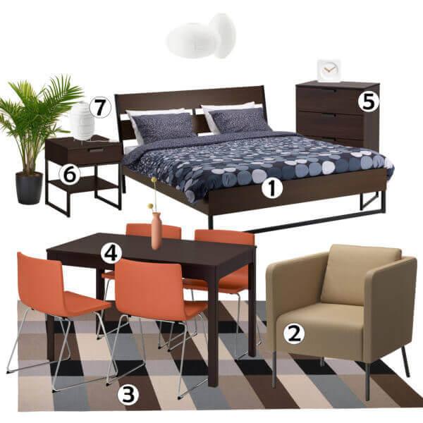 studio apartment furniture set for rent