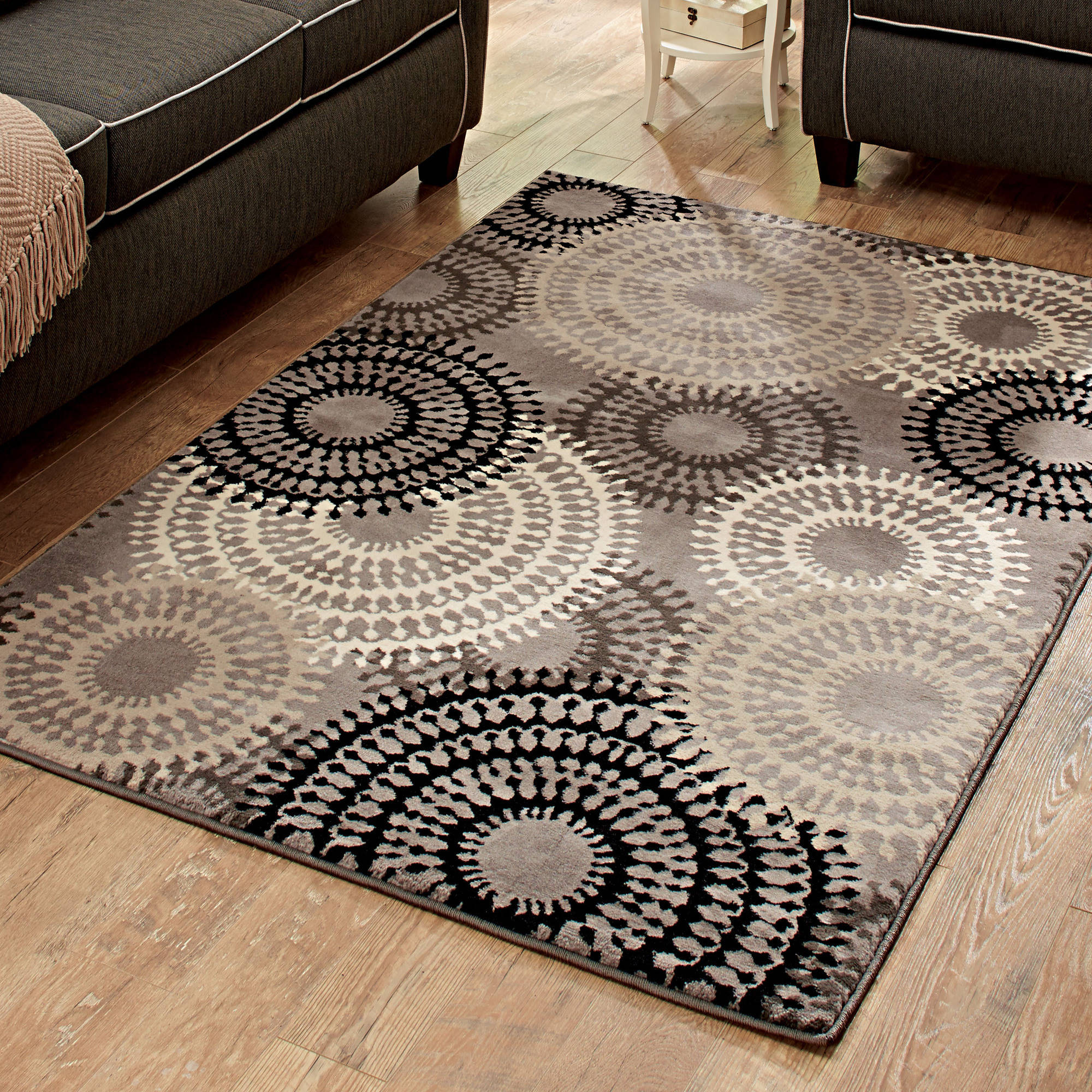 Better Homes and Gardens Taupe Ornate Circles Area Rug or Runner -  Traveller Location