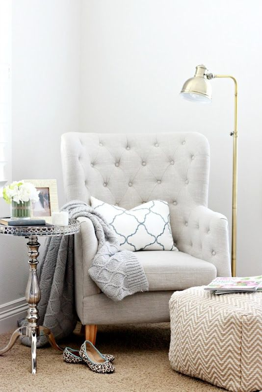 I would love to get an old chair and recover it to look like this!