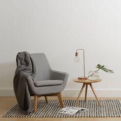 Mercer Mirage Grey Armchair by Zanui | Zanui Grey Couches, Gray Sofa, Grey  Armchair