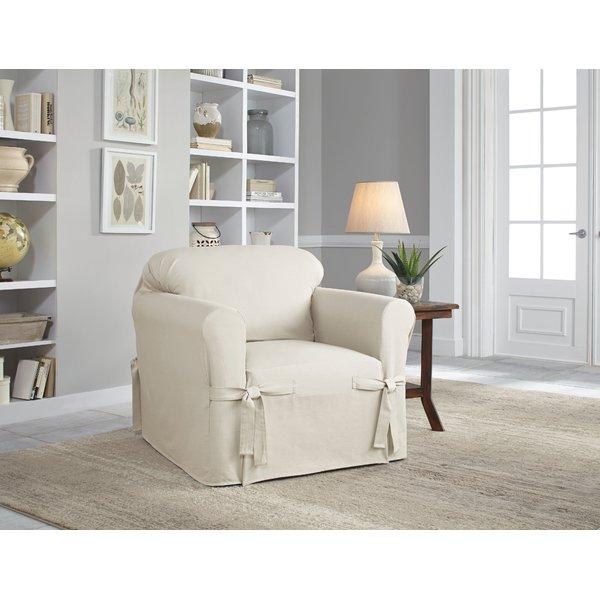 Serta Cotton Duck Box Cushion Armchair Slipcover & Reviews | Wayfair