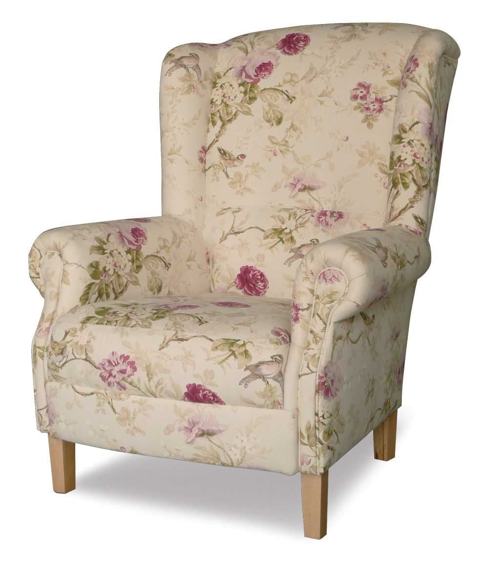 Upholstery Quadra Francis Floral Pattern Armchair Family Round Dinette Sets  Tan Chesterfield Sofa Laura Ashley Mortimer Seater Quality Camping Chairs