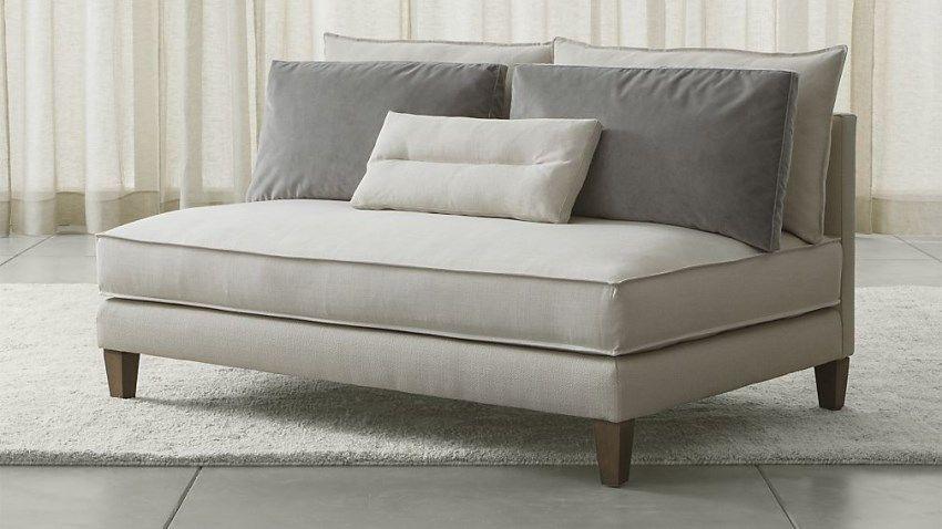 Armless Loveseat Sofas