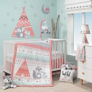 Image is loading Lambs-Ivy-Little-Spirit-5-PC-Baby-Nursery-