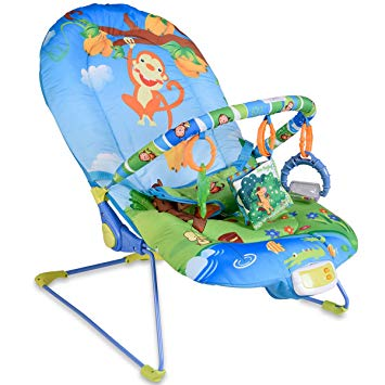 Traveller Location : Baby Bouncer Swing Rocker Reclining Chair With Toys Soothing  Music Box Monkey : Baby