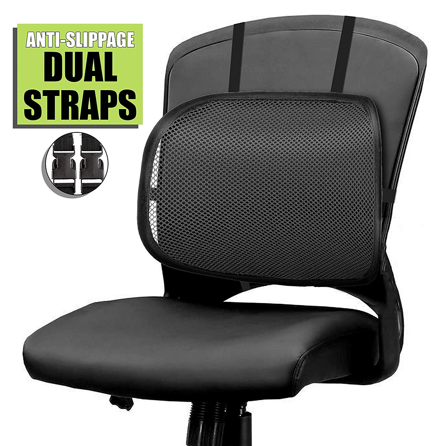 Traveller Location: Easy Posture Lumbar Back Support Mesh (Black Mesh, 1PC): Health  & Personal Care