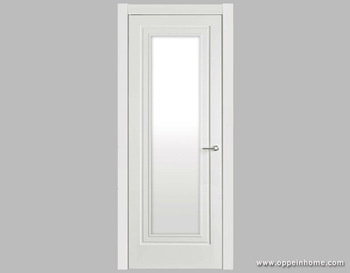 White Shatterproof Frosted Interior Glass Bathroom Door