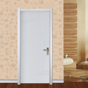 China Modern Waterproof and Sound Insulation WPC Frame Bathroom Doors  for Hotel Project