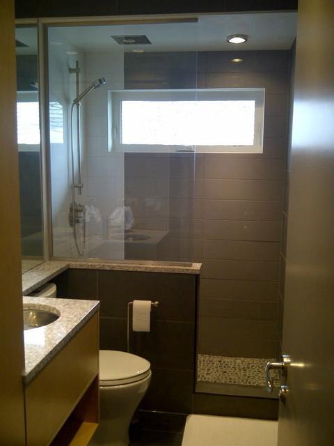 Small Spaces - Bathroom - Contemporary - Bathroom - Calgary - by CVK.