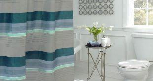 Bath Fusion Regent Stripe 30 in. L x 18 in. W 15-Piece
